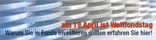 am 19. April ist Weltfondstag